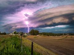Massive storm Redbank Plains to Brisbane 11/02/18 (Muzfox) Tags: sunset nature blue pink purple clouds landscape storm storms lightning bolt weather redbank plains ipswich queensland australia new cloudsstormssunsetssunrises