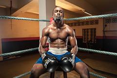 Ready to Rumble (Rey de Elreyfoto) Tags: boxing ring strobist strobism 3 light setup nikon d700 2470 congo republic africa sport anoel ngamissenge removedfromstrobistpool incompletestrobistinfo seerule2