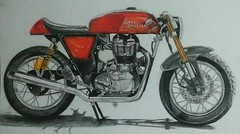 draw Royal enfield continental (herneysartista) Tags: shanghai hollywood losángeles california teacher artacademy españa barcelona korea industria publicidad publico objeto motor lapiz colores fabercastell professional prismacolor magicolor firestone goodyear kenda bike superbike classic famous france italy