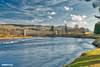 Dalguise Railway Bridge (ALANSCOTT1) Tags: blue rivertay scotland perthshire salmon nikon polarised nature sun clouds light new dalguise dunkeld pitlochry