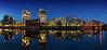 Spreebogen (FH | Photography) Tags: berlin skyline moabit spreebogen gebäude architektur spree panorama hochhäuser skyscraper wolkenkratzer büro immobilie wohnen brücke holsteinerufer hotel blauestunde spiegelung himmel deutschland europa licht fassade ufer promenade abends