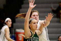 Here, ball here! (stephencharlesjames) Tags: basketball womens sports indoor sport ball action middlebury vermont ncaa castleton hair braid