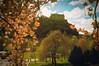 Edinburgh Castle in spring (on2alan) Tags: kodakportra 35mm edinburgh edinburghcastle spring blossom uws vivitaruws