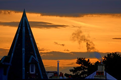 Red sky in Geneva (Carandoom) Tags: lever de soleil arbre ciel bätiment genève
