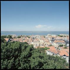 View from Observatoire Sainte-Cécile (Philip Dygeus (philipus.com)) Tags: arcachon carlzeissplanar2880tfe france hasselblad203fe hasselbladflextightx1 kodakektar100
