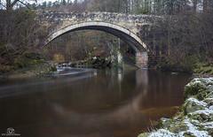 Just a sprinkling... (CamraMan.) Tags: penton bridge snow winter cumbria scotland border liddel river canon6d canon1740mmlusm leepolariser leelittlestopper manfrotto ©davidliddle ©camraman