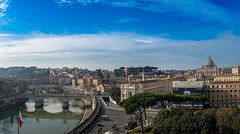 Cityscape of Rome (A.Dissing) Tags: lungotevere castello and its dome st peters lungoteverecastello stpeterschurch rome roma italy city cityscape scape young blue sky a7ii a7 amazing adventure art awesome a7m2 artistic exposure enjoy explore magic multicolor nice new building