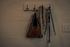 Just hanging (Resad Adrian) Tags: hanger grill tools wall garage bag