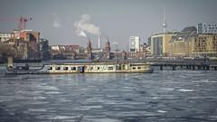 Winter-Spree (-12° C.) (Berlin Snapshots) Tags: berlin spree kreuzberg friedrichshain treptow