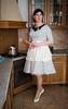 Cooking (blackietv) Tags: black white polka dots polkadots dress full skirt petticoat housewife apron vintage retro tgirl transvestite crossdresser crossdressing transgender kitchen