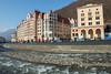 Krasnaya Polyana, Mountain Cluster (globetrekimages) Tags: russia sochi sochi2014winterolympics olympics river building architecture hotel