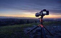 It was a long shot (PeterThoeny) Tags: fremont sanjose california siliconvalley sanfranciscobay sanfranciscobayarea sunset bluehour camera longlens dusk sony a6000 sonya6000 selp1650 sonya7 a7 a7ii a7mii alpha7mii ilce7m2 fullframe tamron tamronsp150600mmf563 1xp raw photomatix hdr qualityhdr qualityhdrphotography sky grass fav200