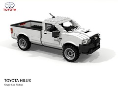 Toyota Hilux AN10 Single Cab Pickup 2012 (lego911) Tags: toyota hilux an10 single cab pickup ute utility truck 4x4 offroad commercial 2012 2010s auto car moc model miniland lego lego911 ldd render cad povray japan japanese foitsop