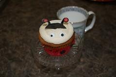 Ladybug cupcake (ladybugdiscovery) Tags: banana cupcake creamcheese frosting sweet treat dessert