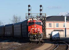 GEVORIFFIC (Joseph Bishop) Tags: cn 2924 ge es44ac cndundassubdivision brantford trains train track tracks railfan railroad railway rail rails signals