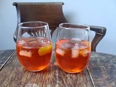 A Pair of Negronis (knightbefore_99) Tags: drink negroni tasty gin campari glass booze best ice cube cocktail vermouth great awesome art delicious cool