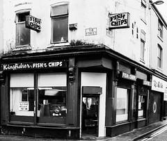 Fish & Chips on Tib Street monochrome (PDKImages) Tags: manchesterstreetart street art manchester streets streetart urban posterart pasteup streetscenes fishandchip fishchips chippie
