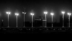 61 St (López Pablo) Tags: subway bw black white lamp station queens new york urban nikon d7200