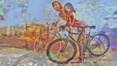 Bildschichten Rad Nudisten 30e (wos---art) Tags: bildschichten rad räder bycicle radfahrer unfall schrott radwandern gruppe