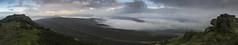 Win Hill Panorama (l4ts) Tags: landscape derbyshire peakdistrict darkpeak winhill panorama heather moorland thegreatridge kinderscout woodlandsvalley ladybowerreservoir mist lowcloud trigpoint walker gritstone crookhill temperatureinversion