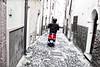 BOSA Sardaigne (FABIENNE PHOTOGRAPHIES) Tags: bosa sardaigne italie scooter nb selective