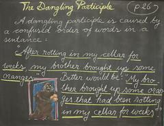 4th Grade L/A: The Hamburger Paragraph (ArneKaiser) Tags: 4thgrade autoimport boarddrawings edited endofyearshow languagearts mrkaisersclass pineforestschool waldorf chalk chalkboard chalkdrawings
