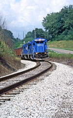 Ohio Central at Baltic (craigsanders429) Tags: conraillocomotives ohiocentralrailroad ohiocentralsystem ohiocentraltrains ohiocentrallocomotives shortlinerailroads ohioshortlinerailroads b237r conrailsupersevens