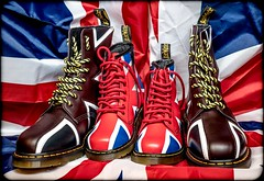 Dr Martens, Union Jack. (CWhatPhotos) Tags: art photographs photograph pics pictures pic picture image images foto fotos photography artistic cwhatphotos that have which with contain olympus penf pen f micro four thirds 43 camera union jack boot boots pascal 1460 adult youth dm dms docs doc maten martens dr drmartens airwair bouncing sole yellow sttching red white blue color colour colors colours foot wear approach