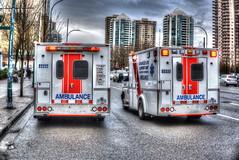 BC Ambulance (tonystairs2003) Tags: burnaby ambulance crystallmall hdr