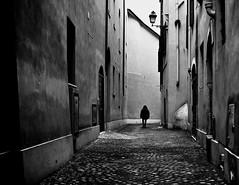 cul-de-sac (Gaia Rampon) Tags: street streetphotography bnw blackandwhite noiretblac monocrome alley wall dowtown nikkor