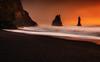 The Awakening (yan08865) Tags: reynisfjara sunset sunrise ocean beach black sun light iceland sea rock sky water mountain bay coast sand landscape seascape pavlis travel nature waves earth