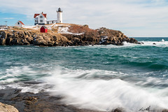 Nubble Lighthouse (Andrew P ( the_aberrant)) Tags: canon canonusa culture hiking eastcoast exploration neverstopexploring adventure travel photography portland portlandmaine nubble lighthouse nubblelighthouse nature outdoors winter ocean sea water salty maine