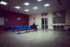 A night waiting (lu★) Tags: morocco night girl alone neon station blue arabic