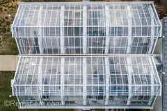 Shot looking directly down into greenhouse building, .Tifton, Georgia. (Remsberg Photos) Tags: farm georgia tifton uga outdoors aerial agriculture drone greenhouse glass plantnursery builtstructure botany conservatory highangle hothouse farming sunlight controlledclimate protection regulated enviroment usa
