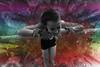 Rainbow cloud explosion (gavinkenyon564) Tags: photoshop action dust explosion gymnast colour color