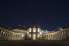 One night in Dresden (misunderstories) Tags: zwinger dresden palast sachsen saxony germany deutschland baroque matthäusdanielpöppelmann architecture royalpalace nightview misunderstories