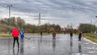 Skating on the ice rink in Odijk, Netherlands - 0762
