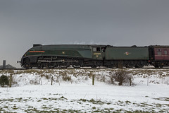 Coasting (andyrousephotography) Tags: unionofsouthafrica 60009 lnerclassa4 462 pacific sirnigelgresley streamlined eastlancsrailway springsteamgala winter snow freezing bitter cold andyrouse canon eos 5d3 5dmkiii ef24105mmf4l