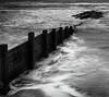 Fylde coast groyne (kenemm99) Tags: fyldecoast 5dmk3 summer landscape bw canon places kenmcgrath groyne lancashire nik sfexpro mono