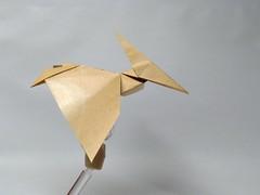 Pterodactyl by saku (Zephyr Liu) Tags: origami paper kraft saku pterosaur pterodactyl dinosaur