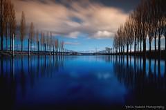 Blue Haven Love (Yarin Asanth) Tags: haven mirrow longexposure orange winter2018 port habor marina reflections surface water blue lakeconstance yarinasanthphotography gerdkozikfotografie