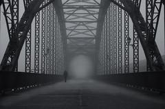 Harburger Elbbrücke im Nebel (fotoerdmann) Tags: brücke germany fognebel hamburg fotoerdmann