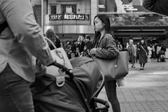 Eyes On The Prize (burnt dirt) Tags: asian japan tokyo shibuya station streetphotography documentary candid portrait fujifilm xt1 bw blackandwhite laugh smile cute sexy latina young girl woman japanese korean thai dress skirt shorts jeans jacket leather pants boots heels stilettos bra stockings tights yogapants leggings couple lovers friends longhair shorthair ponytail cellphone glasses sunglasses blonde brunette redhead tattoo model train bus busstation metro city town downtown sidewalk pretty beautiful selfie fashion pregnant sweater people person costume cosplay