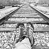 Railroad Relaxation (Halvorsong) Tags: railroad railroadtracks railyards blackandwhitephotography blackwhite blackandwhite industrialphotography trains traintracks composition americana americanwest america nashville