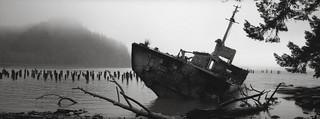 Shipwreck, Columbia River, Washington