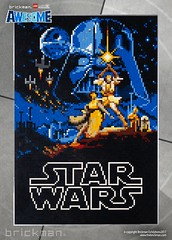 LEGO® brick Star Wars 1977 movie poster (TheBrickMan) Tags: legomosaic lego movie poster starwars brickman awesome