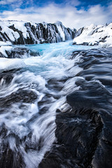 Icebirth (davebrosha) Tags: davebroshaphotography blue bruarfoss iceland landscape nature river stock waterfall waterfalls winter