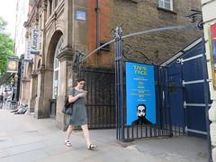 Space Invader LDN_072 (tofz4u) Tags: london londres uk angleterre unitedkingdom streetart artderue invader spaceinvader spaceinvaders mosaïque mosaic tile ldn072 ldn72 street rue people walking affiche billboard tapeface