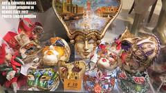 CARNIVAL & ART MASKS - VENICE ITALY (lindenhud1) Tags: masks carnival carnivalmasks art artmasks colorful interesting artistic venice italy venezia italia shopwindow store europe travel awesome beautiful painted artsy colorfulart