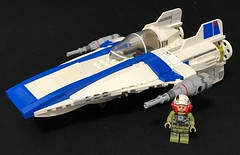 Kuat Systems Engineering RZ-2 A-Wing (Zach Sweigart) Tags: wing starfighter star wars resistance interceptor last jedi lego